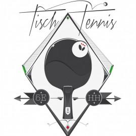 Tischtennis Illustration für den 5 Elemente e.V.