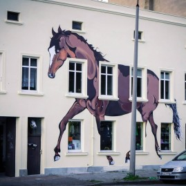Fassadengestaltung - Sattlerei Hase - Magdeburg - 2014