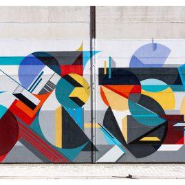 """Mural """"Minimal Ist Poesie I"""" - Graffiti - Magdeburg- Werk4"""