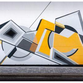 """Mural """"Minimal Ist Poesie II"""" - Graffiti - Magdeburg- Werk4"""