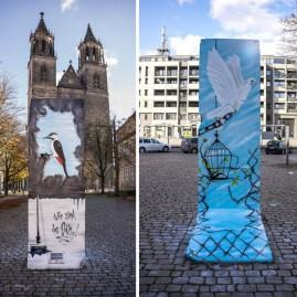 Berliner Mauer-Segmente – Gestaltung - Magdeburg - 2013