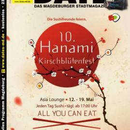 Grafikdesign – Sushifreunde - Titelseite Stadtmagazin DATEs