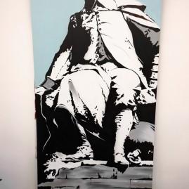 Otto von Guericke – 3 x 1,5 Meter auf Alu-Dibond – Magdeburg - 2014