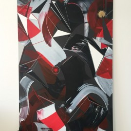 Beyond Words.abstract calligraphy Acryl / 200x120 cm