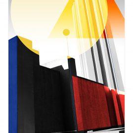 Bauhaus - Freidenker Denkmal von Carl Krayl - grafische Interpretation - Magdeburg 2020