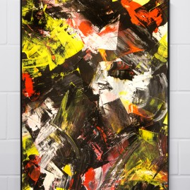 """Schön Dorindgen"" - Acryl, 100x70cm - 2018"