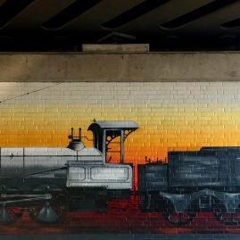 Fassadengestaltung für die Deutsche Bahn AG - Magdeburg
