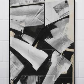 """""""A Day In The Life"""" - Acrylfarbe und Linolfarbe (100x70cm) im Schattenfugenrahmen"""