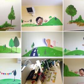 Wandgestaltung – Kinder-Glaukom-Zentrum der Universitätsaugenklinik Magdeburg