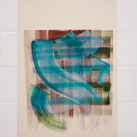 Acryl und Tinte auf finn. Holzpapier / 100x70 cm