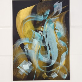 Kalligraphie – Acryl und Tinte auf Fotokarton / 70x50 cm