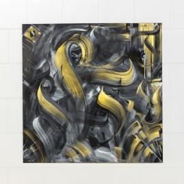Calligraffiti -  Vide cor Meum - Leinwand 100 x 100 cm / Acryl.