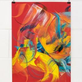 Calligraffiti - Acryl & Tinte auf 70 x 50 cm Karton.