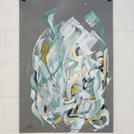 Kalligraphie – Acryl und Tinte auf Fotokarton / 100x70 cm