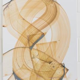Beyond Words 3 - Antiktusche auf Siebdruckkarton / 100x75cm