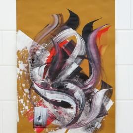 Evil – Acryl und Tinte / 100x70 cm