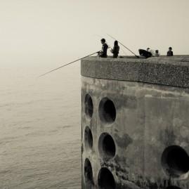 La jetée de Dieppe - Angler – Normandie - Frankreich