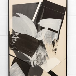 """Circumstances and Distances"" Pt.5 - Linolfarbe und Acryl - 100x70 cm – 2017"