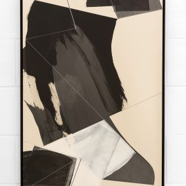 """Circumstances and Distances"" Pt.7 - Linolfarbe und Acryl - 100x70 cm – 2017"