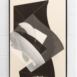 """Circumstances and Distances"" Pt.8 - Linolfarbe und Acryl - 100x70 cm – 2017"