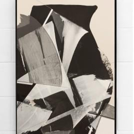 """Circumstances and Distances"" Pt.9 - Linolfarbe und Acryl - 100x70 cm – 2017"