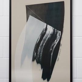 Estranged – Beyond Words / abstract calligraphy. Acryl auf finn. Holzpapier - 100x70 cm