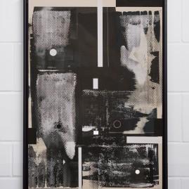 Undun – Beyond Words / abstract calligraphy. Acryl auf finn. Holzpapier - 100x70 cm