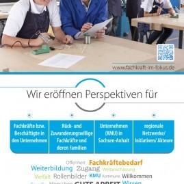 Roll-Up-Gestaltung für die Landesinitiative Fachkraft im Fokus des Landes Sachsen-Anhalt