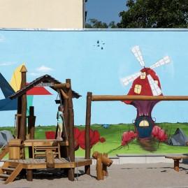 """Fassadengestaltung – Spielplatz """"Mühlenwiese"""" - Magdeburg 2015 / Westerhüsen"""