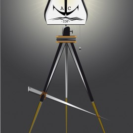 Illustration - Stativlampe – In die Fluten
