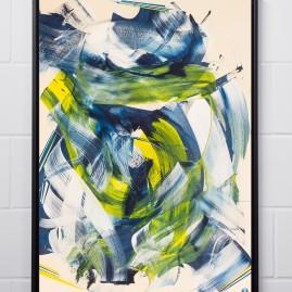 Beyond Words / abstract calligraphy. Acryl auf finn. Holzpapier - 100x70 cm