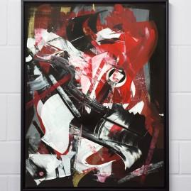 Eye of the Beholder – Acryl im Schattenfugenrahmen / Aussenmaße: 98x70 cm