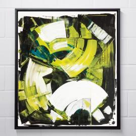 Beyond Words.abstract calligraphy Acryl auf Leinwand / 90x70 cm