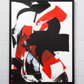 Beyond Words. Acryl und Antiktusche auf Siebdruckkarton / 120x85 cm