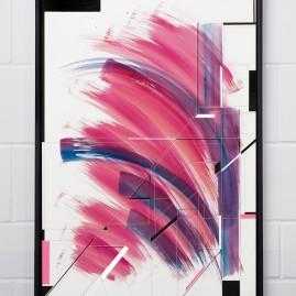 A.more – Beyond Words / Aquarell und Acryl auf Siebdruckkarton - 100x70 cm