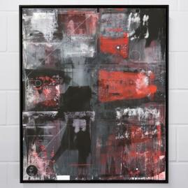 """Circle Of Life"" - Acryl, Linolfarbe, Acrylspray - 120x100 cm – 2017"