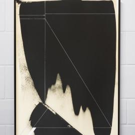 """Circumstances and Distances"" Pt.4 - Linolfarbe und Acryl - 100x70 cm – 2017"