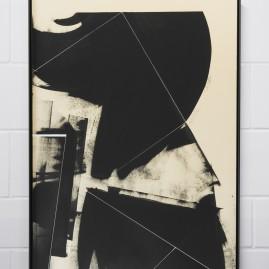 """Circumstances and Distances"" Pt.3 - Linolfarbe und Acryl - 100x70 cm – 2017"