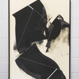 """Circumstances and Distances"" Pt.2 - Linolfarbe und Acryl - 100x70 cm – 2017"