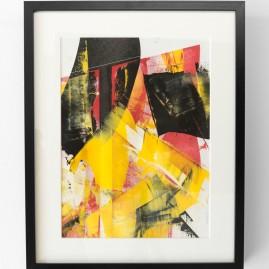 """Teufel hast Du Wind"" - Linolfarbe 52x42 cm – 2017"