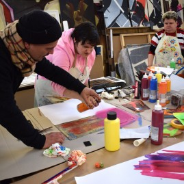 Kreativ-Workshop mit den Salzland Werkstätten