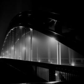 Sternbrücke im Nebel - Magdeburg