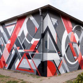 Freie Auftragsarbeit für die Stadtwerke Magdeburg - 2018 Ackermann - Fassadengestaltung - Kunst